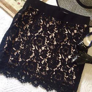 Torrid black lace overlay shaping skirt